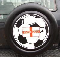 England Flag 4x4 Moulded Wheel Cover